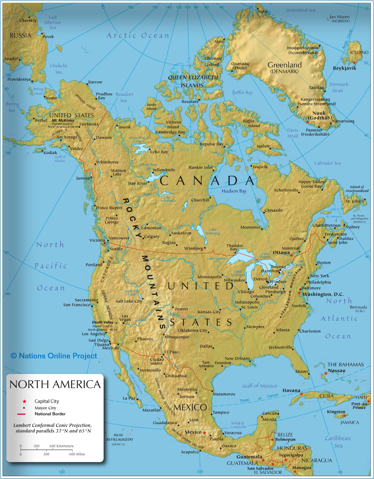 United States Map North