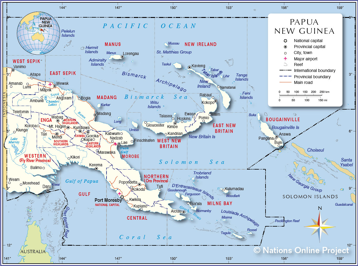 Political Map of Papua New Guinea Nations Online Project