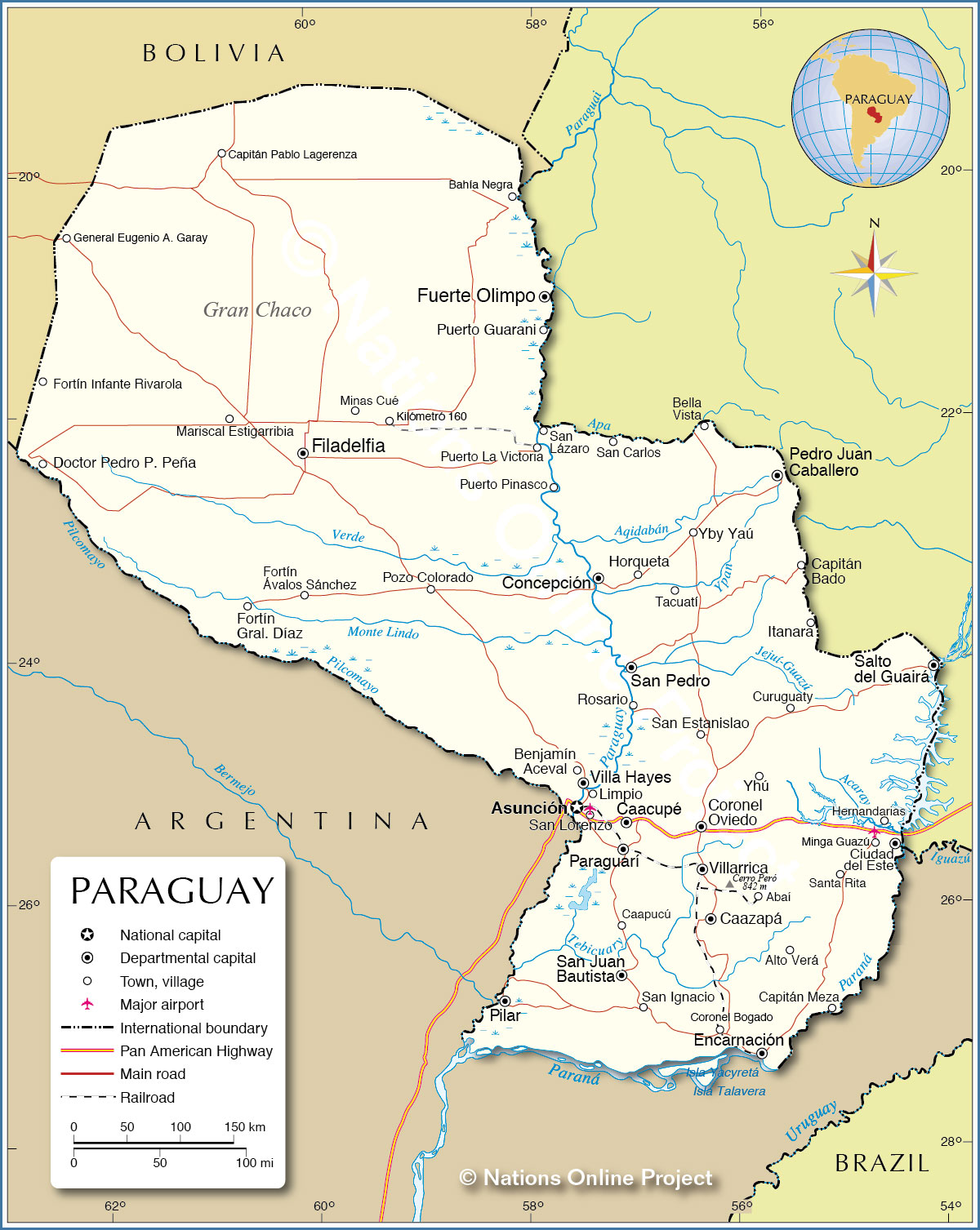 political map of paraguay with Map Of Paraguay on Paraguay besides No andes maps together with Geoatlas Countries Belgium Map City Illustrator Fully Modifiable as well Latin America Map Physical additionally Staedte.