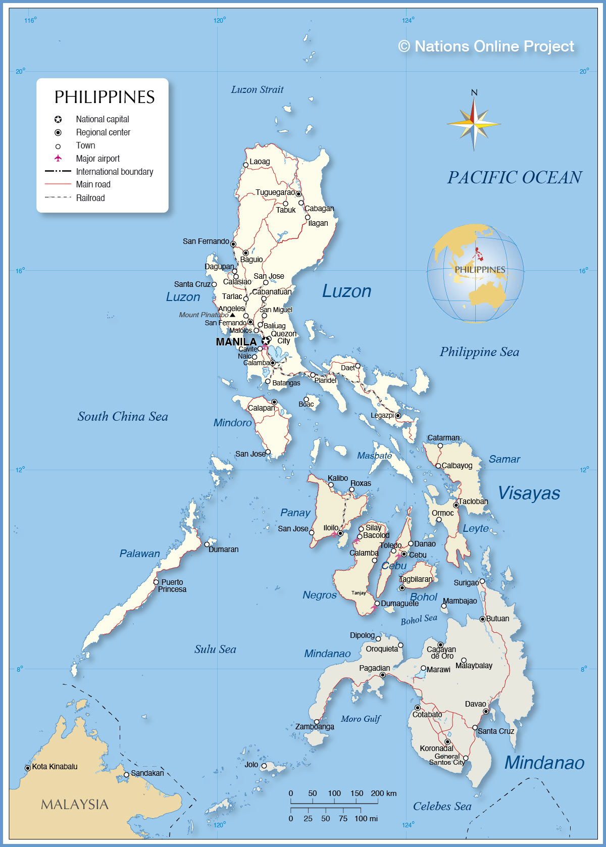 Political Map of Philippines  Nations Online Project