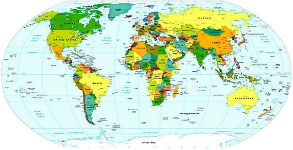 World Map New York
