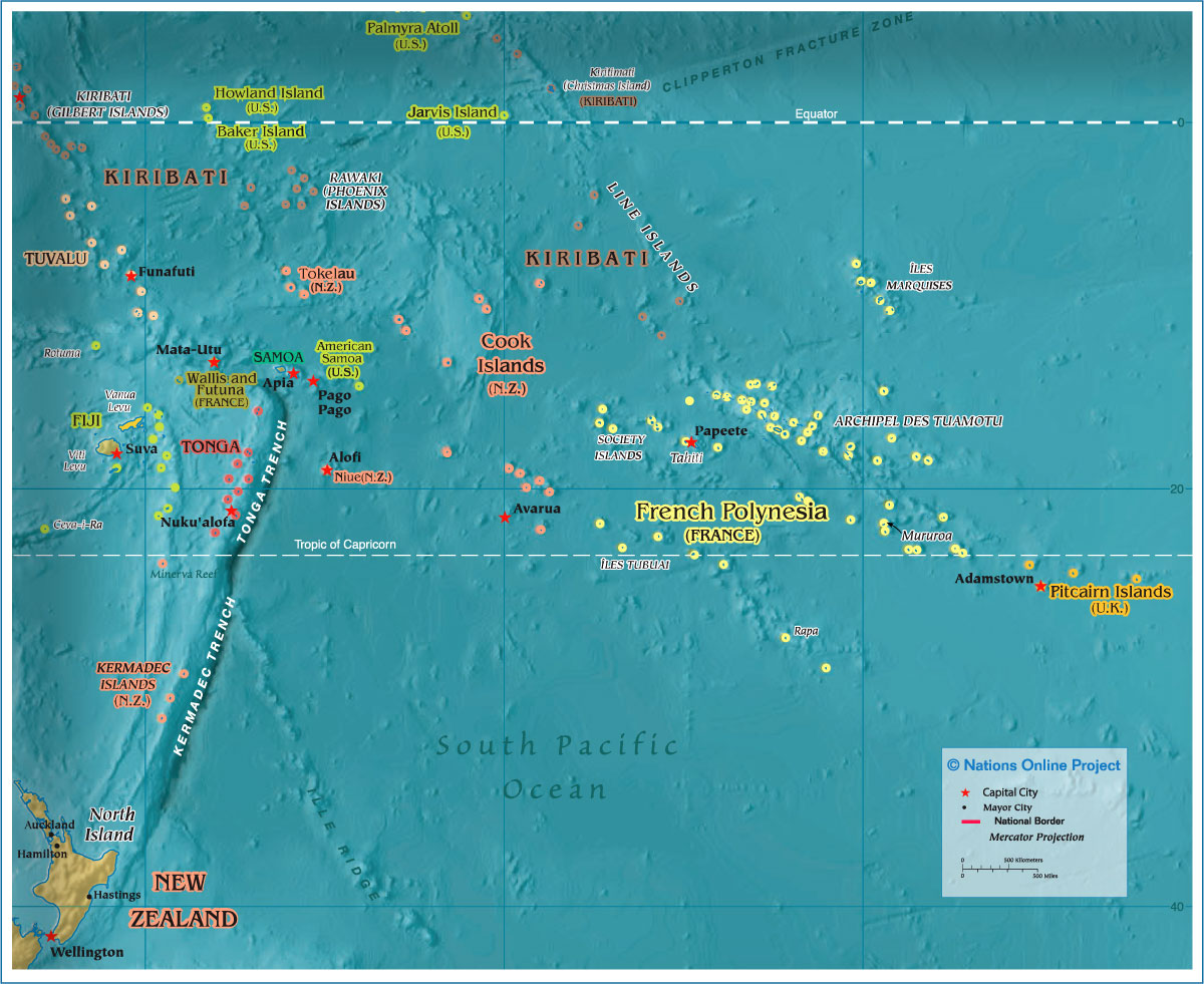 Map Of Polynesian Islands Political Map of Polynesia (1200 px)   Nations Online Project