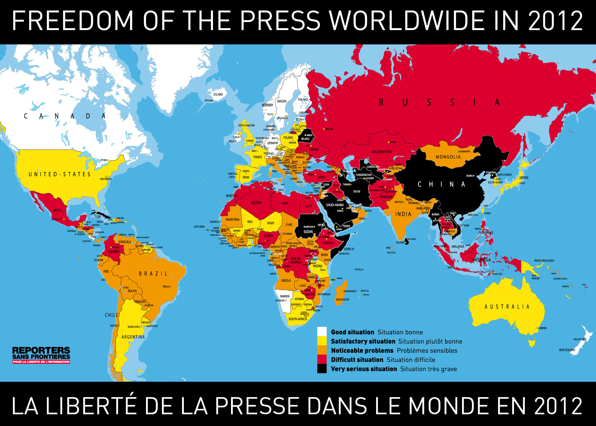 Press censorship one world nations online countries of the world