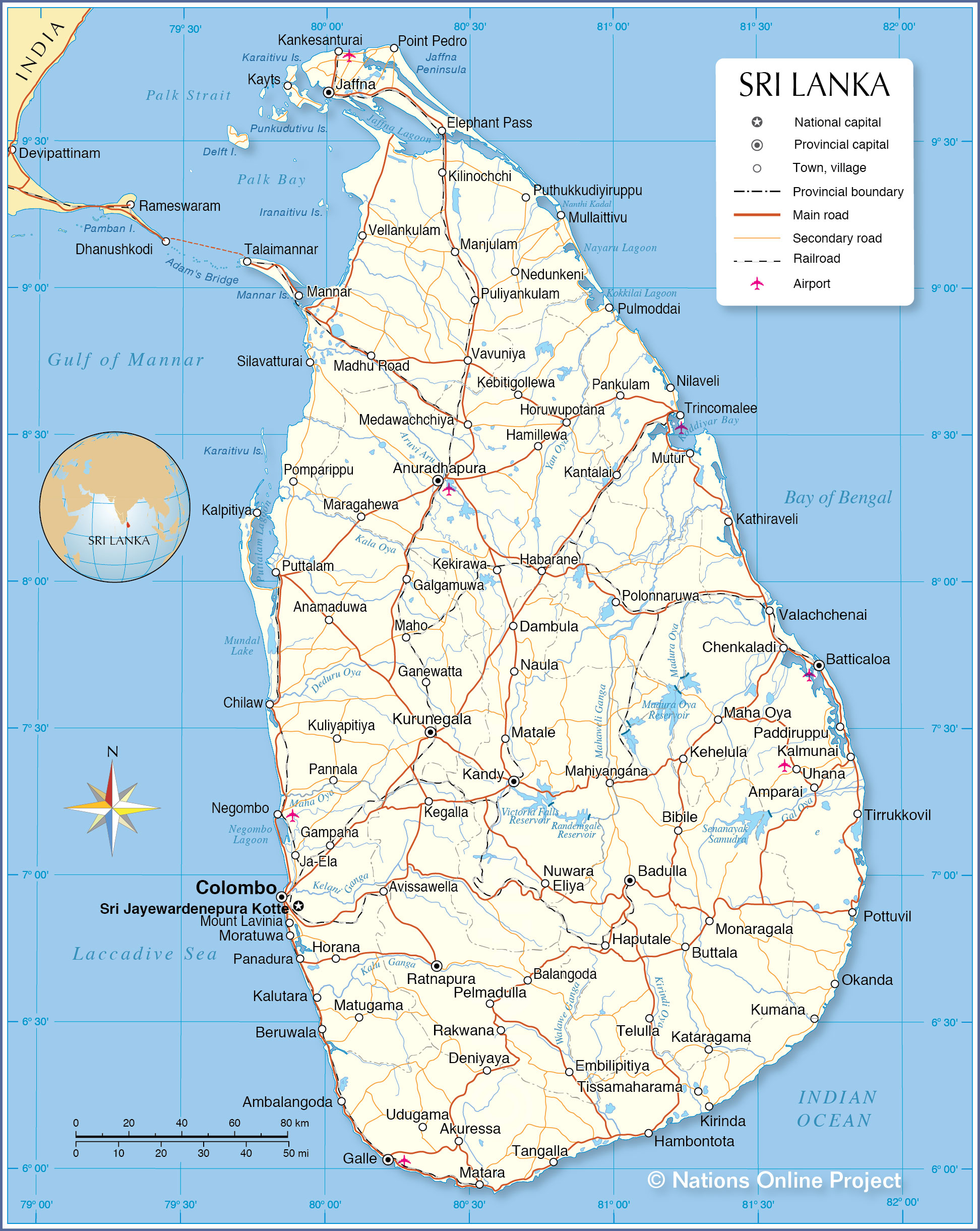 Political Map of Sri Lanka - Nations Online Project on map of nhava sheva india, map of ahmedabad india, map of budapest india, map of jaffna india, map of bangalore india, map of kabul india, map of delhi india, map of chennai india, map of bay of bengal india, map of cochin india, map of gujarat state india, map of dhaka india, map of kathmandu india, map of qatar india, map of thimphu india, map of asia india, map of kolkata india, map of hyderabad india, map of dubai india, map of bombay india,