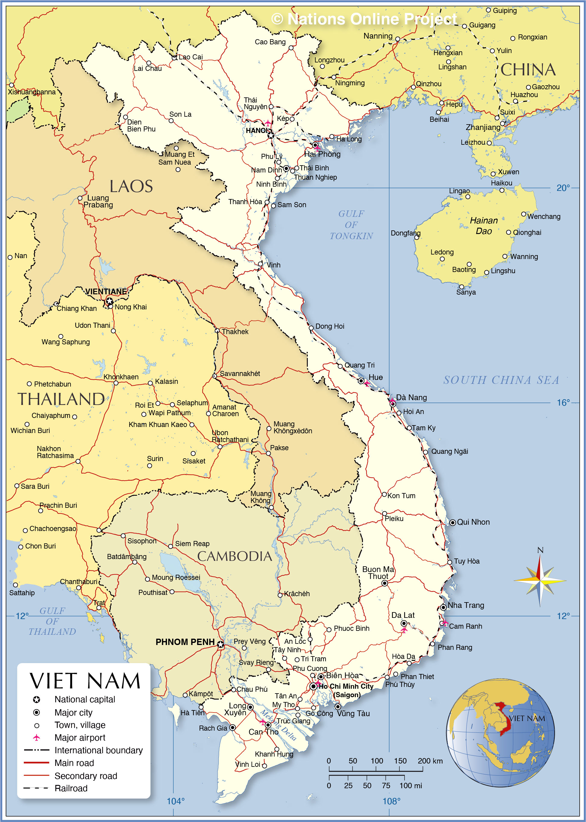 Political Map of Vietnam - Nations Online Project