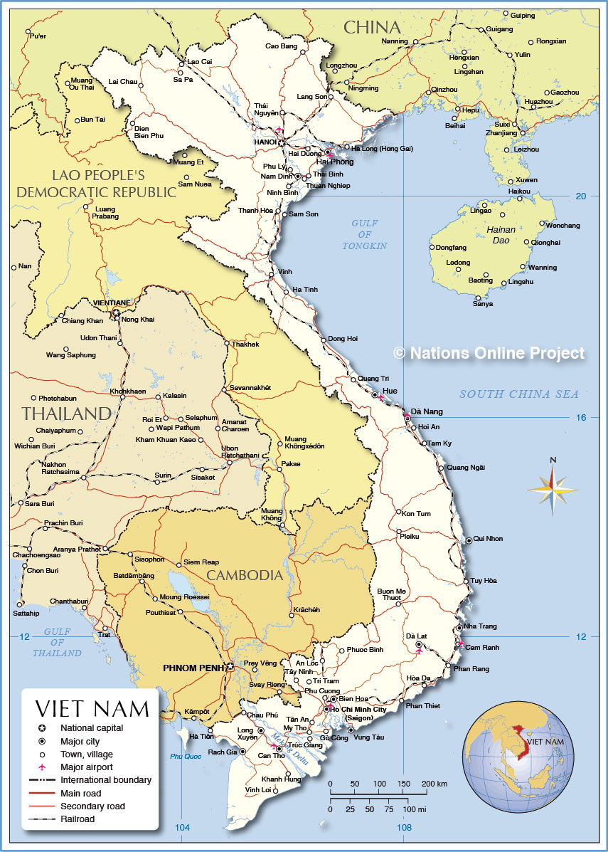 Political map of vietnam nations online project small map of vietnam gumiabroncs Image collections
