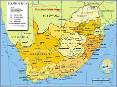 South Africas Provinces Map