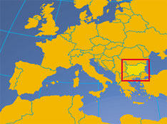 'Location map of Bulgaria. Where in Europe is Bulgaria?' from the web at 'http://www.nationsonline.org/oneworld/../map_small/bulgaria_small_map.jpg'
