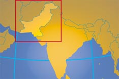 Location map of Pakistan. Where in Asia is Pakistan?