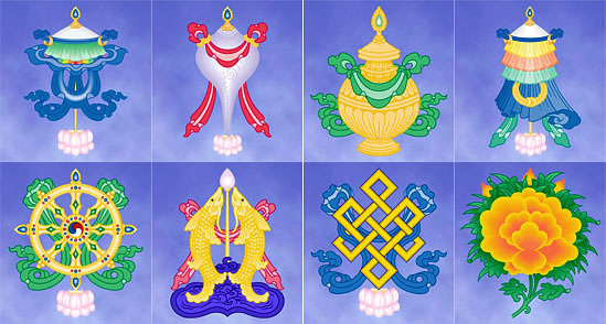 Eight Buddhist Symbols Chinese Customs