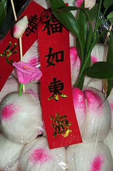 Food symbolism chinese customs during chinese new year celebrations food offering with red banner for chinese new year photo valeska gehrmann m4hsunfo